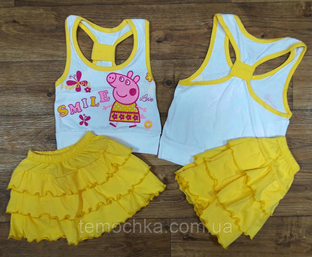 Летний комплект свинка ПЕППА. Желтый
