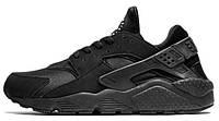 Женские кроссовки Nike Air Huarache Silver All Black, найк хуарачи