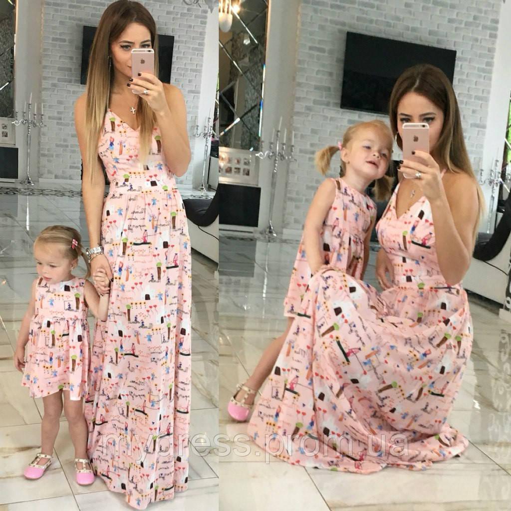 4e551cbd733a8f0 Family Look Парные платья Mammys love - MY DRESS SHOP стильная одежда от  лучших производителей в
