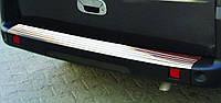 Fiat Doblo 2001+ накладкиа на задний бампер нерж Omsa