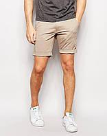 Мужские  шорты  летние хлопок S,M.L - бежевые