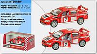 Модель легковая 5 KT5048W MITSUBISHI LANCER EVOLUTION VII WRC металл