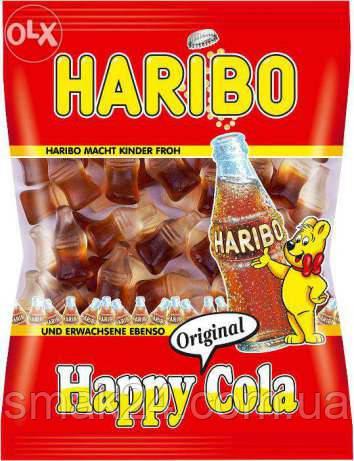 Желейные  конфеты Haribo Happy Cola Германия 200г