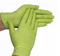 Нитриловые перчатки плотные Салатовые Италия