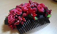 """Гребень для волос """"Розовый сад"""""""
