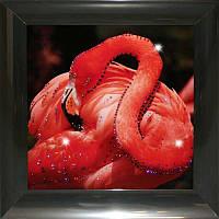 Красочная картина стразами Розовый фламинго