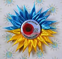 Значок на День памяти с розеткой Украина