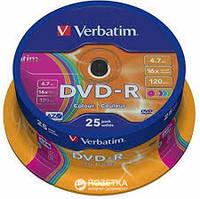 Диск Verbatim (Тип - DVD-R, Объем - 4.7GB, скорость записи - 16x, упаковка - spindle (коробка), количество дис