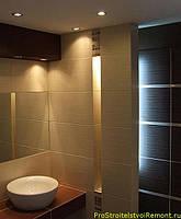 Светодиодные светильники в интерьере ванной комнаты