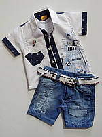 Летний костюм на мальчика,9-12-18-24 месяцев