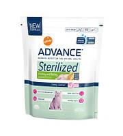 Advance (Эдванс) Сухой корм для стерилизованных котов Cat Sterilized, индейка ячмень 400гр