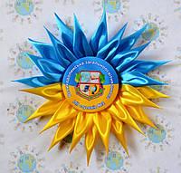 Значки для выпускников школы с розеткой Украина