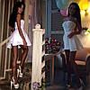 Шикарное платье с полосками сеточки, фото 3
