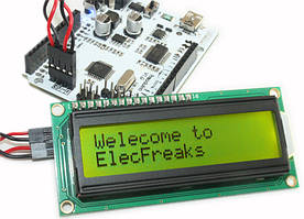 РК LCD 1602 16х2 модуль дисплей Arduino - зелений