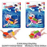 Аквалангист водоплавающий игрушка 26305 2 вида, водоплавающая заводная игрушка в ванную, игрушка для малыша