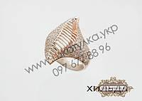 Серебряное кольцо с золотом и цирконом Хильда, фото 1