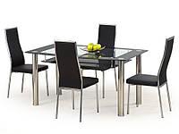 Стол обеденный стеклянный CRISTAL черный Halmar