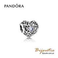 Pandora шарм СЕРДЦЕ-ТАЛИСМАН МАРТА 791784NAB серебро 925 Пандора оригинал