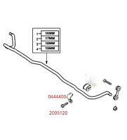 Болт (винт) M8 X 25 крепления хомута (зажима, скобы, кронштейна крепления, бугеля) втулки заднего стабилизатора OPEL VECTRA-C SIGNUM SAAB 9-3 Opel