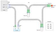 Дыхательный контур Smoothbore 22мм с Y-образным коннектором, влагосборниками и дополнительным шлангом 0,5м, дл
