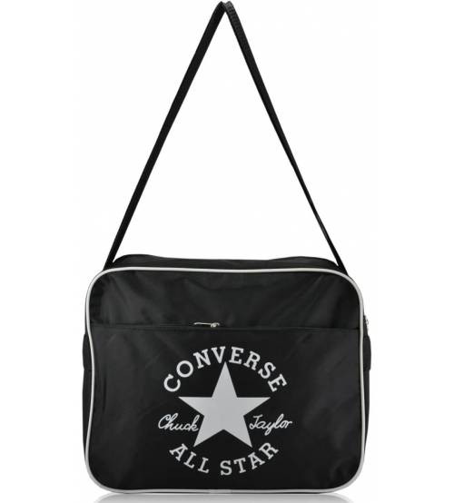 Спортивная сумка через плечо Converse черная с белым
