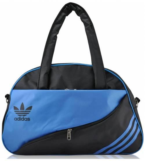 Спортивная сумка Adidas Diagonal черная с синим реплика