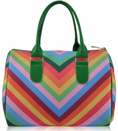 Женская сумка саквояж Valentino зеленая