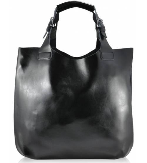 Женская кожаная сумка 811 черная