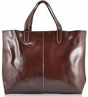 Женская кожаная сумка 10612 коричневая