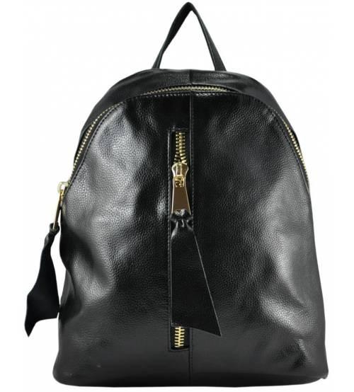 Кожаный рюкзак 1385 черный