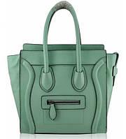 Женская сумка Celine Boston ментоловая