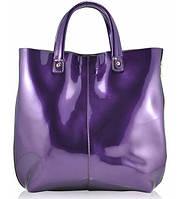 Женская кожаная сумка 8010-1 фиолетовая