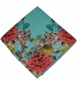 Женский платок 16465 голубой