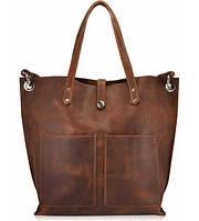 Женская кожаная сумка Cowboy коричневая