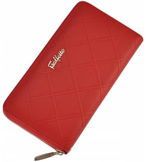 Женский кожаный кошелек 2548-YF1 красный