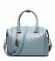 Женская кожаная сумка 7334-15 голубая