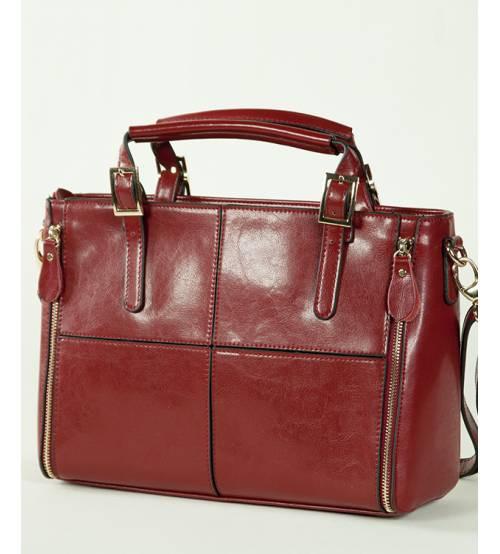 Женская кожаная сумка 7316-01 красная