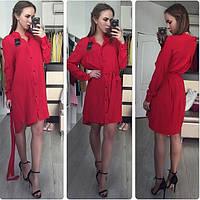 Платье-рубашка. Ткань штапель, состав 100% хлопок.Цвета в ассортименте. Размер S M L. ST 007