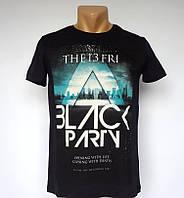 Черная мужская футболка Black Party - №1439
