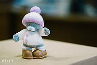 Мишка в шапке и куртке