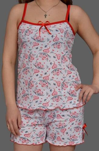 Комплект домашней одежды майка и шортики (100% хлопок)