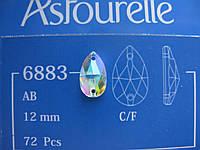Стразы пришивные Asfour Капля 12мм. Crystal AB