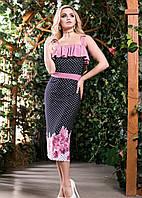 Нарядное летнее платье из микромасла