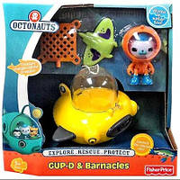 "Капитан Барнаклс ""Октонавты"" Fisher Price Octonauts GUP-D & Barnacles Figure Set, фото 1"