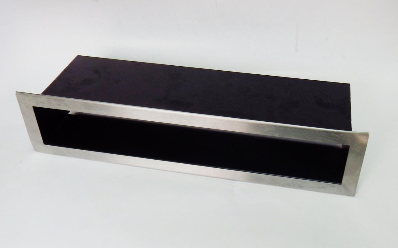Решетка каминная люфт (ширина 6 см), шлифованная