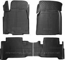 Коврики в салон для Acura MDX 2006-13 резиновые, черные (AVTO-Gumm)