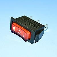Выключатель RS-103-3С красный 1-група ON-OFF-ON   PRK0048