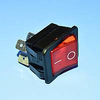 Выключатель 220В AE-C1353ABNAC (IRS201) красный 2-группы ON-OFF  Arcolectric