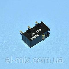 Микропереключатель 13х6х6мм D2F-01 3pin без планки  Omron