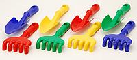 """Игрушечный набор """"Ромашка №5"""" : грабли + лопатка для игры в песочнице"""